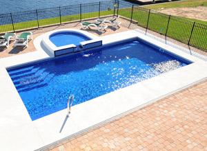 Hydro dynamic pools - Rectangle pool aerial view ...